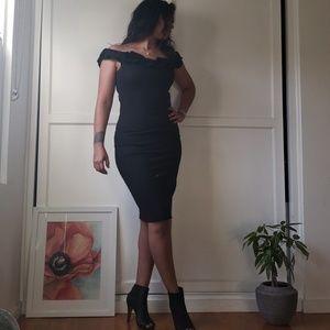 ☆Black Zara Off or On the Shoulder Dress☆